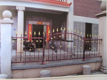 72 Inch High RPF102 Residential Wrought Iron Fence dcorative wrought iron fence Wrought Iron Fence Installation