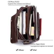 Fashion 2019 Genuine Leather Men Shoulder Bag High Quality Crossbody Bags