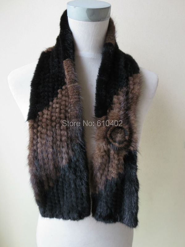 a4ec48585337 wholesale sell retail Free shipping  real mink knitted fur scarf ...