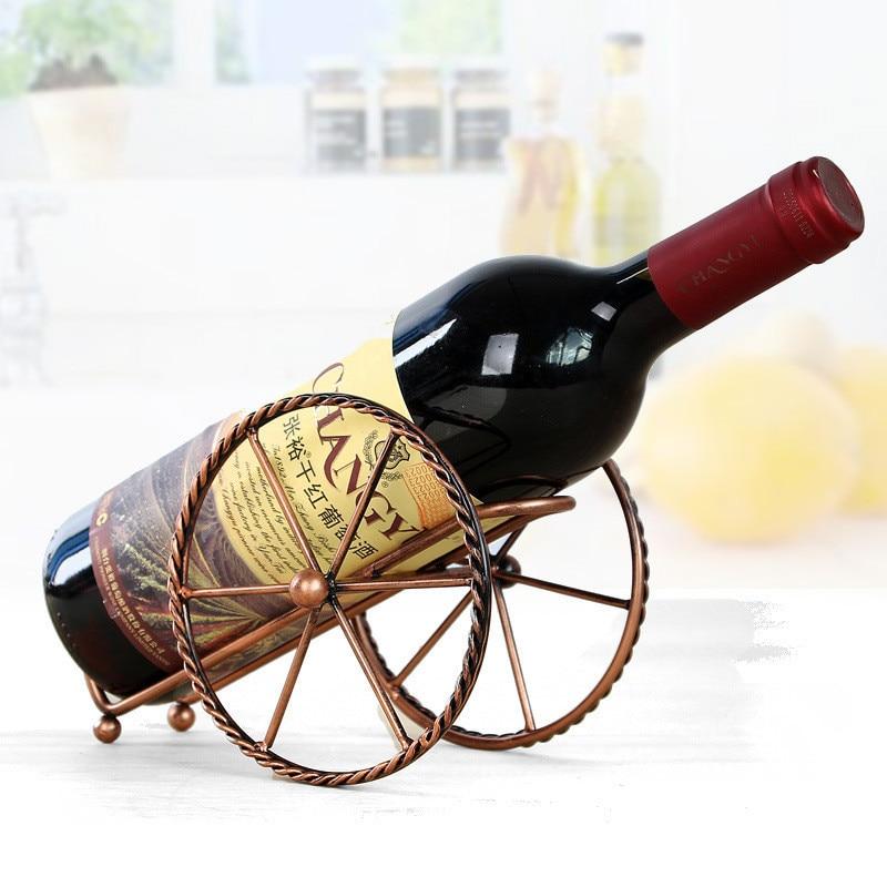 Handgemaakte Metalen Wijnrek Keuken Bar Winkels Decoratie Accessoires Houder Wijn Flessen Decor Display Plank En Rekken Uitstekende (In) Kwaliteit
