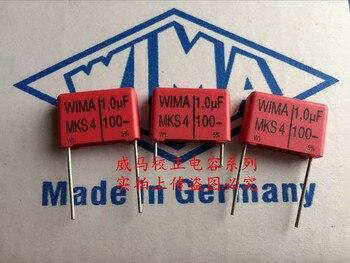 2019 hot sale 10pcs/20pcs Germany WIMA MKS4 100v 1.0UF 1UF 105 100v P: 15mm Audio capacitor free shipping цена 2017