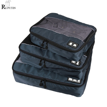 RUPUTIN 3Pcs/set High Quality Travel Luggage Organize Storage Bags For Shirts Clothes Underwear Breathable Mesh Packing Cube Set