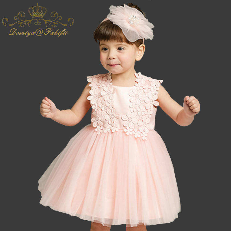 Summer 2018 Flower Girl Dress Top Grade 0-24M Baby Princess Dresses For Girls Wedding Party Vestidos Infantis Kid Girls Clothes high grade princess wedding dress europe and america flower girl dress for girls white for 0 12 yesrs