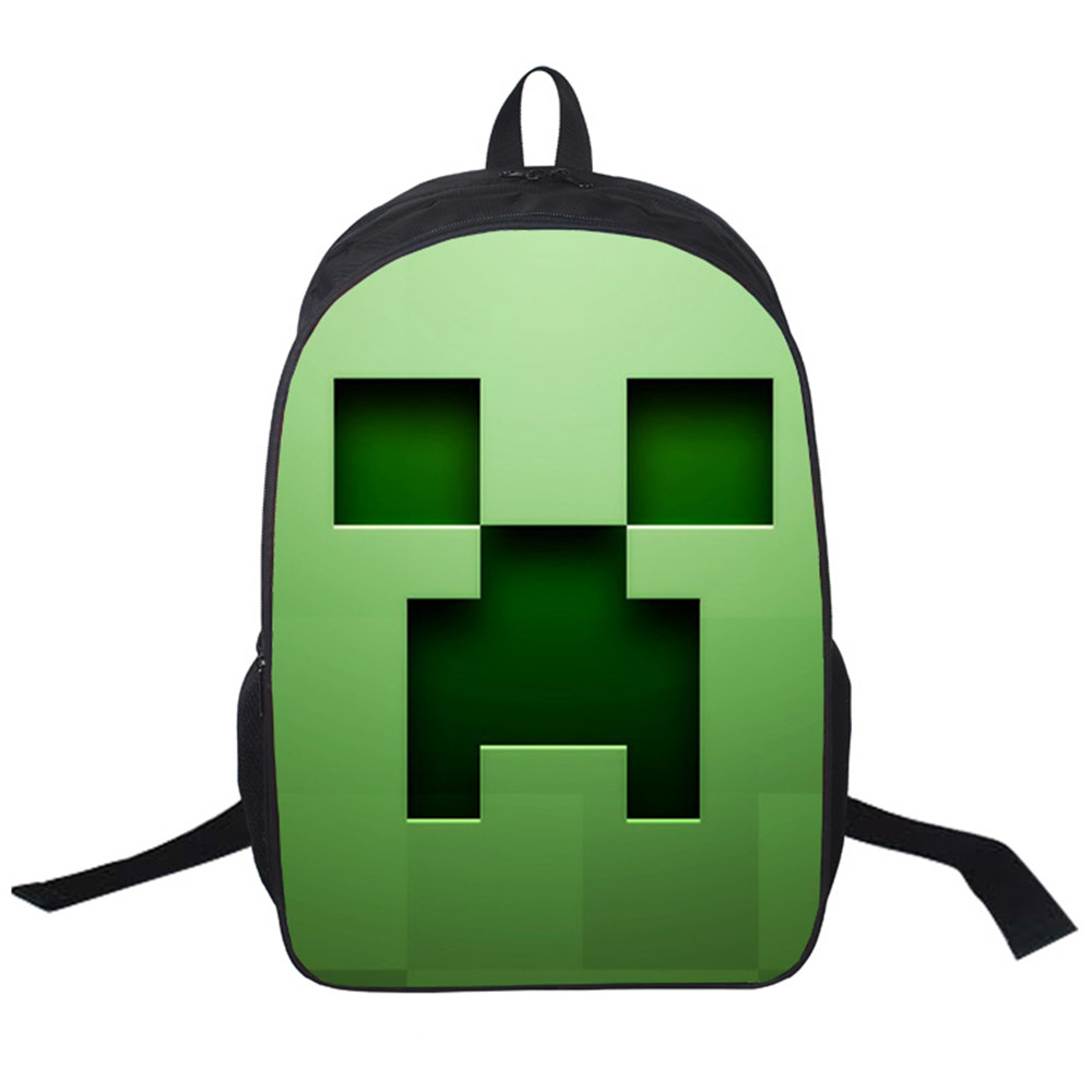 Cartoon Women Bags Minecraft Game Prints Backpack Students School Bag For Girls Boys Rucksack Mochila Customize Halloween Gift