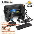 ALONEFIRE X800 Масштабируемые тактический фонарик XM-L2 светодиодный фонарик факел освещение Оборонительных Велосипед свет + 26650 + зарядное устройство