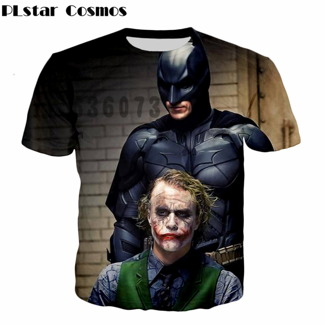 P Lstar Cosmos 2017 Summer New Men Women Fashion T Shirts Latest Design Batman Joker T Shirt 3d Print Harajuku Casual T Shirts by P Lstar Cosmos