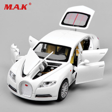 1/32 Alloy diecast car model toys bugatti veyron electronic light sound pull back sports cars for kids boys children gift