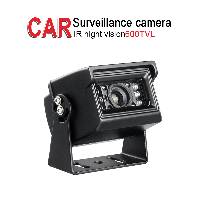 Free Shipping 600TVL Metal Reverse Camera,Waterproof IR Night Vision Outdoor for Car Boat Truck Bus Vans Taxi Rear View Security 4ch sd gps track car auto dvr video recorder kit ir cctv sony 600tvl rear view camera 9 lcd for truck van bus free shipping