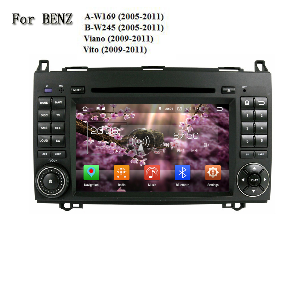 Android 8 0 2 Din Car DVD Player For Benz A W169 B W245 Viano Vito