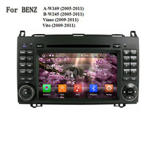 Android 8.0 2 Din Car DVD Player For Benz A-W169 B-W245 Viano Vito 1024*600 CPU 1.6G Auto Multimedia Stereo SAT Navi Wifi