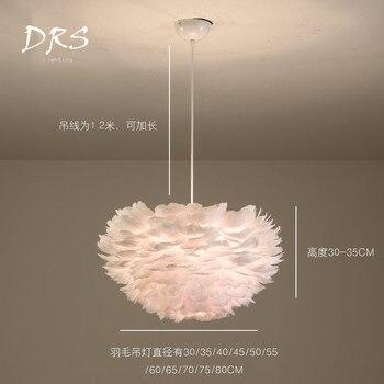 Moderne Plume Pendentif Lumières Créatif Salon Chambre Restaurant Chambre D'enfant Pendentif LED Lampes Suspension Luminaire