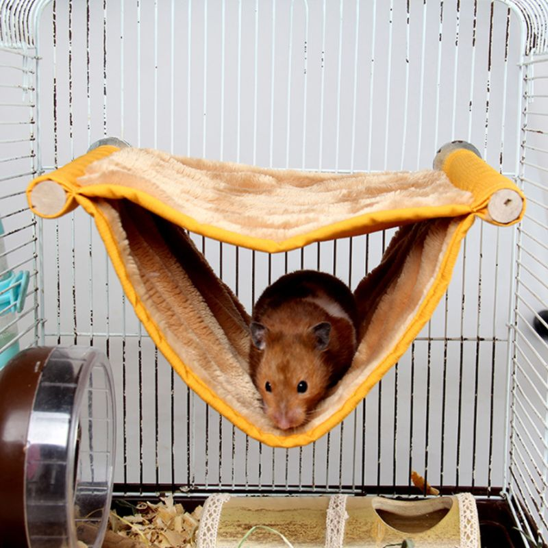 Pet Hammock Two Layers Hanging Cage Bed Toys Soft Plush Fleece House Nest For Small Pets Hamster Squirrel Chinchilla Guinea Pig