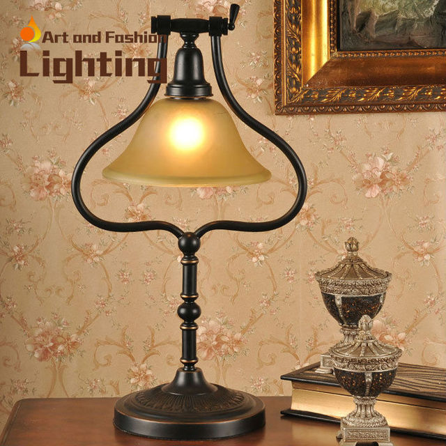Charmant Amrican Country Antique Style Table Lamp Republican Period Large Table Lamp  Adjustable Study Reading Room Light