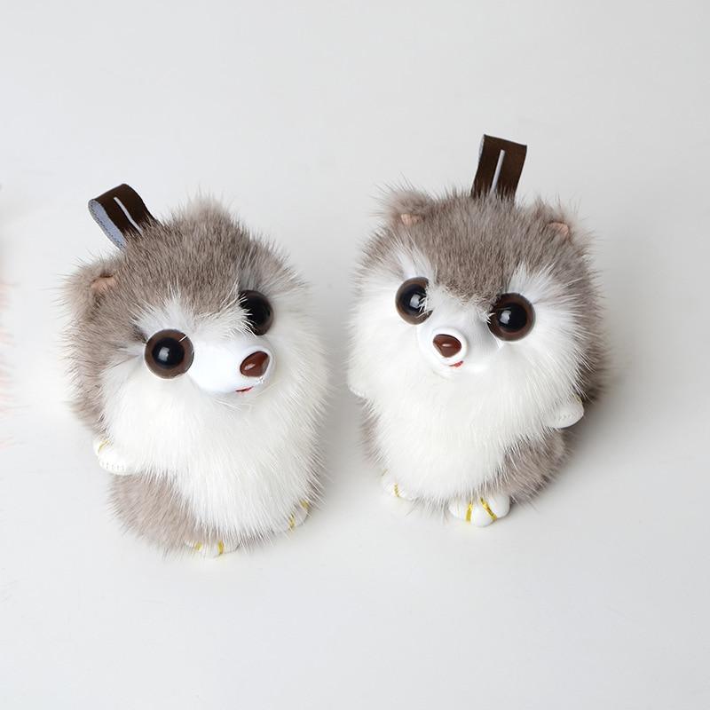 Bag hanging ornaments key chain creative plush car keychain cute female small squirrel fur grass mobile phone accessories YSK 02