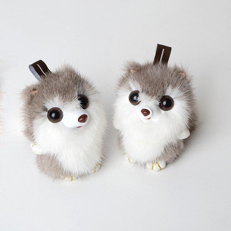 Sac suspendus ornements porte-clés créatif en peluche voiture porte-clés mignon femme petit écureuil fourrure herbe téléphone mobile accessoires YSK-02