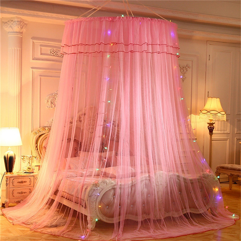 Enthusiastic European Round Palace 3 Doors Mosquito Net For 1.2-2m Bed Romantic Dome Bed Valance Bed Canopy Home Decor Bedding Moustiquaire Mosquito Net