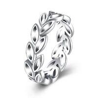 XU 925 Sterling Silber Olivenzweig Formular Hohl Ringe Täglichen Ferien Geschenke Großhandel Frauen Klassische Stil R177