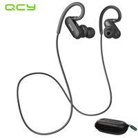 5pcs Lot QCY QY8 Bluetooth Headset Wireless Sport Bluetooth Earphone With Mic Noise Cancelling Original English
