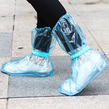 Reusable Motorcycle Cycling Bike Rain Boot Shoes Covers PVC Waterproof Rainproof Thicken Non-slip Shoes Cover AGW001 shu ouer rainproof shoes cover ms gao tong non disposable shoes taobao explosion models waterproof winter snow