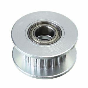Image 3 - 3 шт. в диаметре 20т 5 мм отверстие 6 мм GT2 Ремень Гладкий направляющий ролик с подшипником для 3D принтера