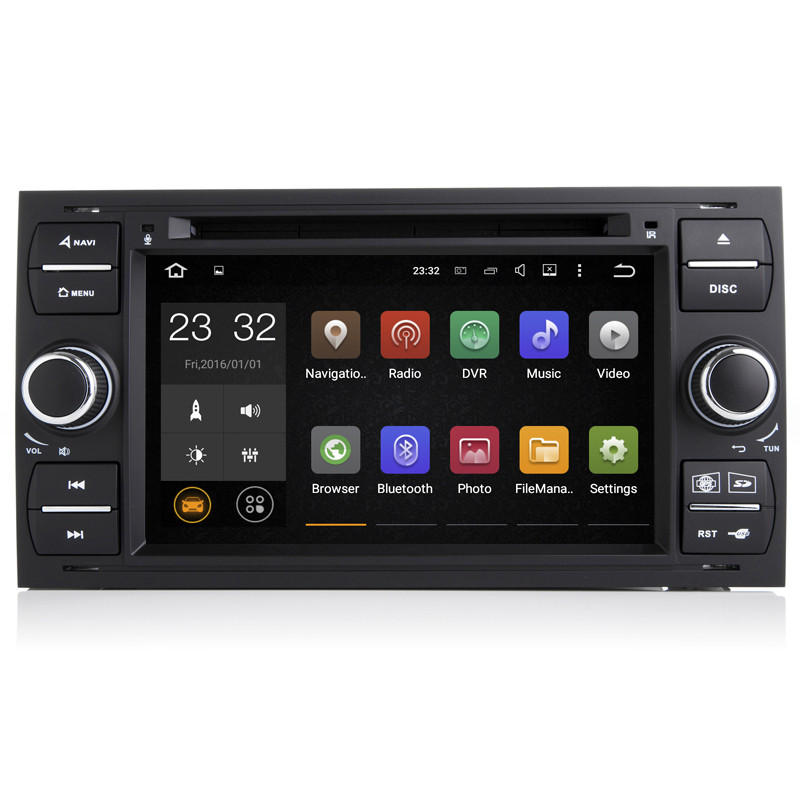 7 дюймов 2 г Оперативная память Android 8,1 шт. автомобильный DVD gps радио для Ford Transit Fiesta Galaxy Fusion C MAX S MAX focus Kuga Mondeo 2006 2007