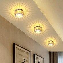 Светодиодный потолочный светильник 3 Вт современный поверхностный монтаж светодиодный потолочный светильник s AC85-265V светильник ing для гостиной потолочный светильник
