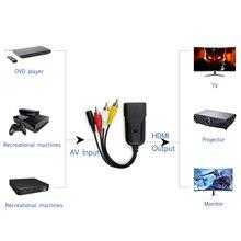 AV/RCA to HDMI Adapter Support AV Signal to 1080P HDMI Signal AV to HDMI Video Converter