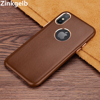 For iPhone XS Max Cover Case Luxury Cute Slim Soft Genuine Leather Protection Armor Phone Case for iPhone XR Back Cover Funda