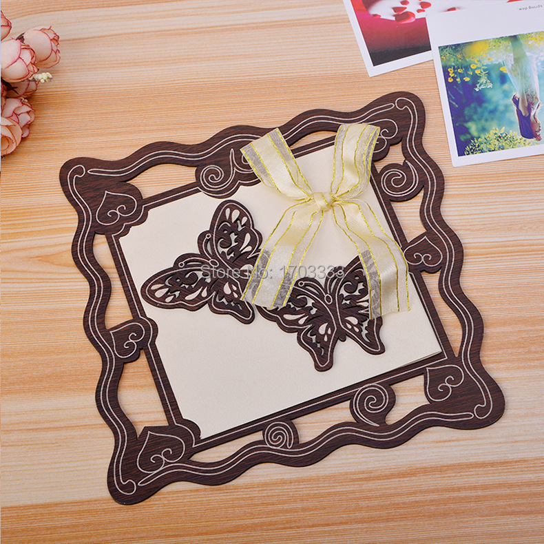 150 Pcs Hollow Out Butterfly Wood Paper Crafts Elegant Wedding Invitation  Card Decorations Free Shipping  DS46Online Get Cheap Elegant Paper Crafts  Aliexpress com   Alibaba Group. Fedex Office Wedding Invitations. Home Design Ideas