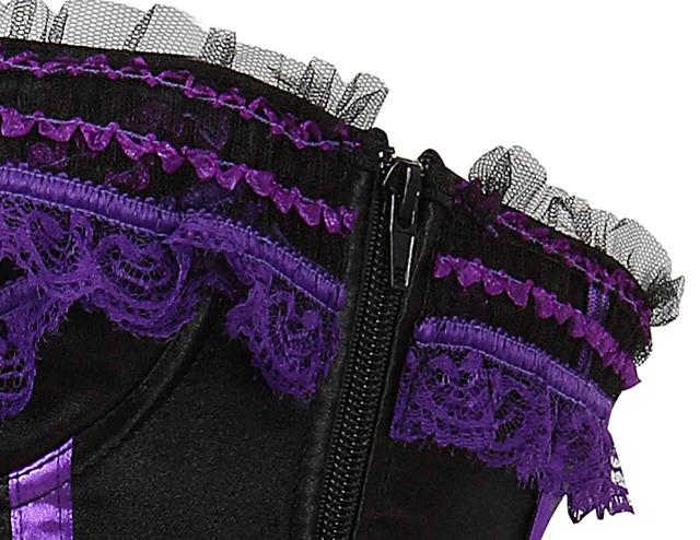 Satin Lingerie Overbust Corset Clubwear showgirl Waist