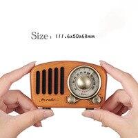 Retro Rechargeable Nostalgic Portable Radio Am Fm mini Radio with built in speaker