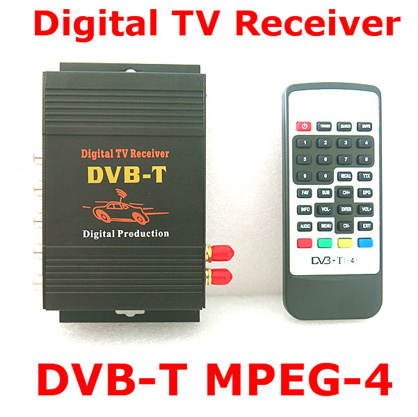 Car Digital TV Tuner Receive Car DVB-T MPEG-4 Dual Tuner 140-200KM/H DVB T SD for Europe Middle East Australia futv4622a dvb t mpeg 4 avc h 264 sd encoder modulator tuner cvbs rca in rf out with usb upgrade for home use