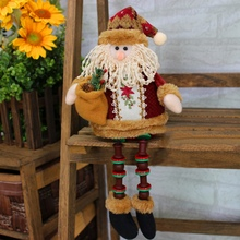 2018 Christmas Decorations Sitting Christmas Santa Claus Snowman Figure Plush Toy Doll Christmas Party Tree Christmas Products