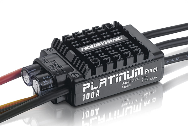 HobbyWing platino 100A V3 controlador de velocidad electrónico ESC para el modelo de RC