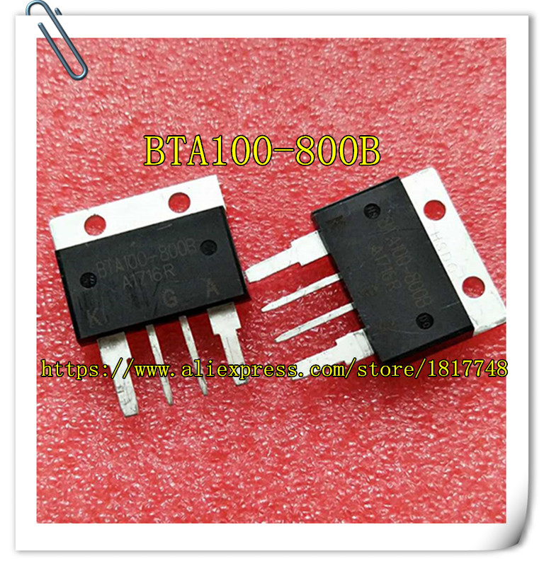 2PCS/LOT  Two-way Scr BTA100-800B BTA100-800 BTA100800B BTA100 800B 100A/800V Large Current Large Chip