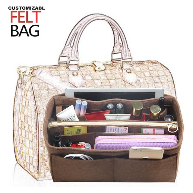Customizable 3MM Felt Purse Organizer Bag in Bag Organizer For Tote Handbag  Speedy Neverfull Small Medium Large Extra Large 3d7edf937fdd1