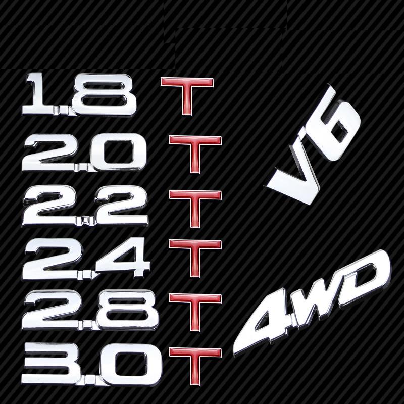 case for Volkswagen TSI 1.4T 1.8T 2.0T Turbo metal sticker logo VW tiguan polo golf 6 golf 7 passat B5 small font