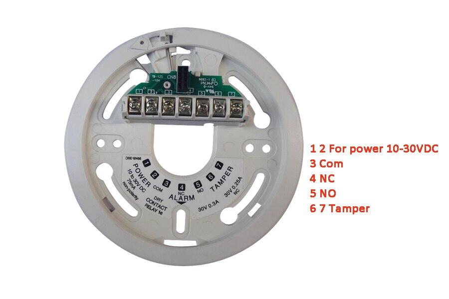 2000E Filo sensore di Allarme Antincendio rilevatore di Fiamma Rivelatore di raggi Ultravioletti protezione di sicurezza Domestica NC/NO uscita relè di segnale - 6