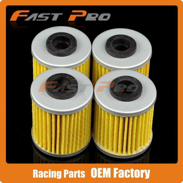 4 X Filtro de Óleo Limpo Para Betamotor Beta 250 300 REV EVO Corridas de Motocross Enduro Da Bicicleta Da Sujeira Da Motocicleta