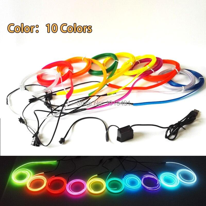 Tiras de Led party car decor luz de Color : 10 Colors Select