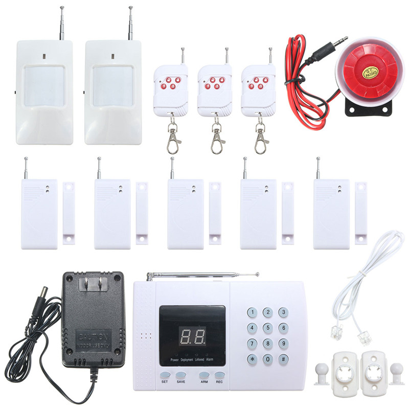 NEW Safurance  PSTN 99 Zones Wireless PIR Home Security Burglar Alarm System Auto Dialer Home Safety Alarm Mainframe Kits цена