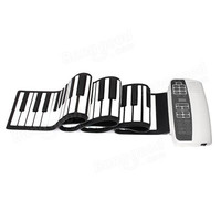 White Black S 88 Professional Silicone Flexible 88 Key Roll Up Piano 140 Tones With MIDI