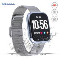 Activity Tracker, KENCOOL Waterproof Smart Fitness Watch HD Screen Fitness Tracker With Pedometer/Heart Rate /SNS Alert/GPS Map
