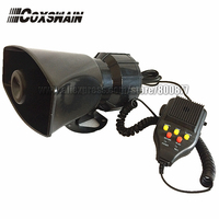 JQD 100 100W 12V Motorcycle and Automobile Siren 3 Tones with sound Recording Speaker Alarm Amplifier (Siren + Speaker)