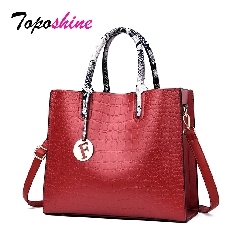 Toposhine 2019 Brand Women Bags Luxury Handbags Designer Pu Leather Shoulder Fashion Messenger BagS For Ladies