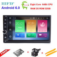 HIFIF 2 gb + 32 gb HD Android 6.01 Lollipop Universele 7 inch Autoradio Auto Audio Stereo Head Unit Dubbele 2 Din Auto GPS Navigatie