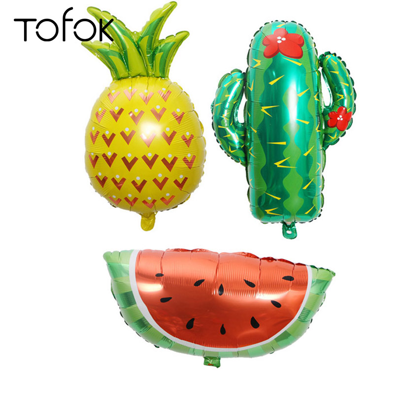 Tofok Party Balloon Watermelon Pineapple Cactus Aluminum Foil Balloon Baby Birthday Party Decoration Supplies Holiday Decor Toy