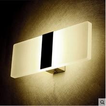 Feimefeiyou Mini 3/6/12W Led Acrylic Wall Lamp AC85-265V Long warm white Bedding Room Living Room Indoor wall lamp