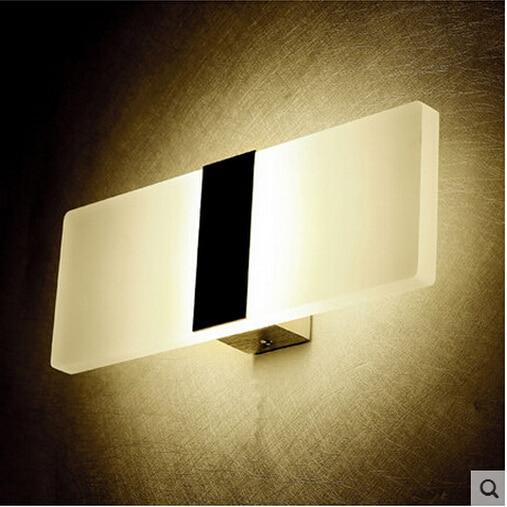 Mini 3W 6W Led Acrylc Wall Lamp AC85 265V 14CM 22CM Long warm white Bedding Room