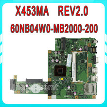 Original X453MA X403MA motherboard for Asus Main board REV2.0 DDR3 100% Tested 60NB04W0-MB2000-200